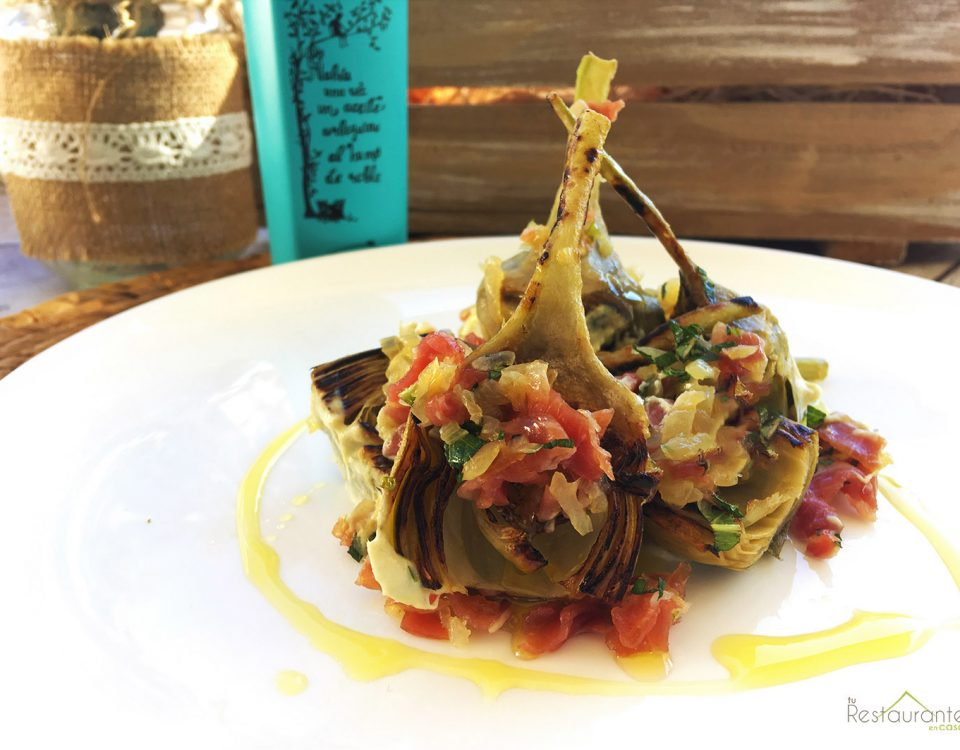 emplatado alcachofas- tu restaurante en casa