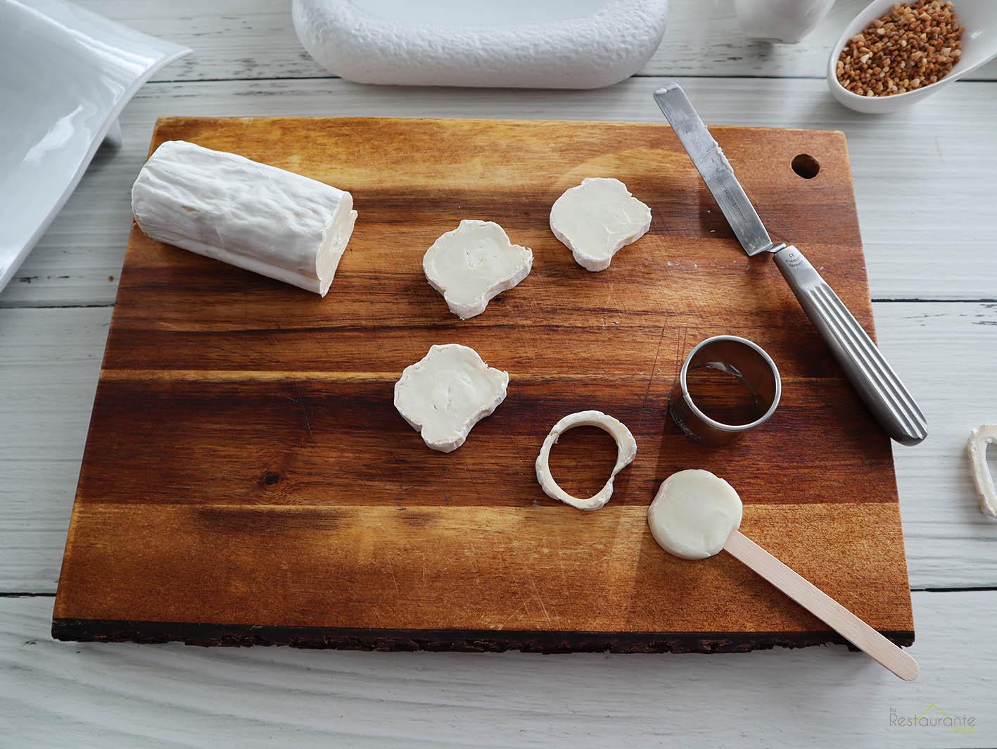piruleta de queso de cabra - tu restaurante en casa